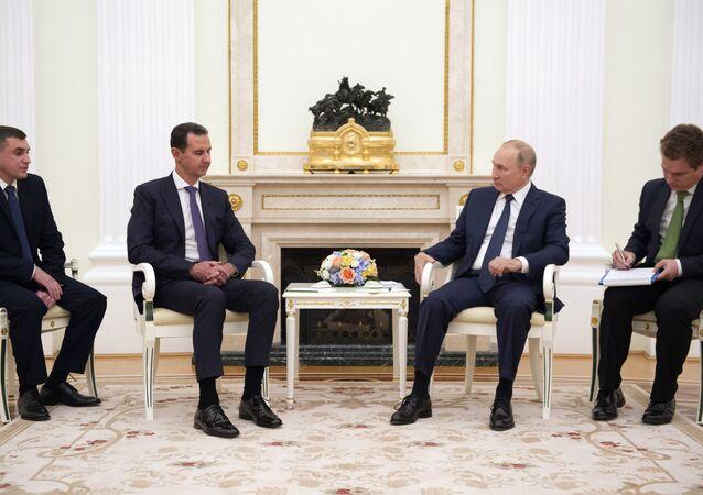 Le Président Poutine et le Président Assad à Moscou, le 13 septembre 2021