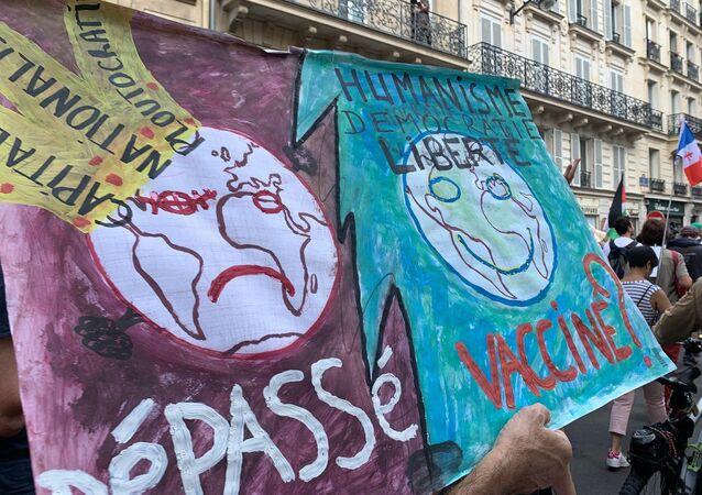 Dixième samedi de manifestations contre le pass sanitaire, le 18 septembre 2021