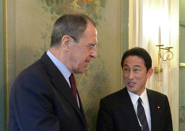 Sergueï Lavrov et Fumio Kishida (archives)