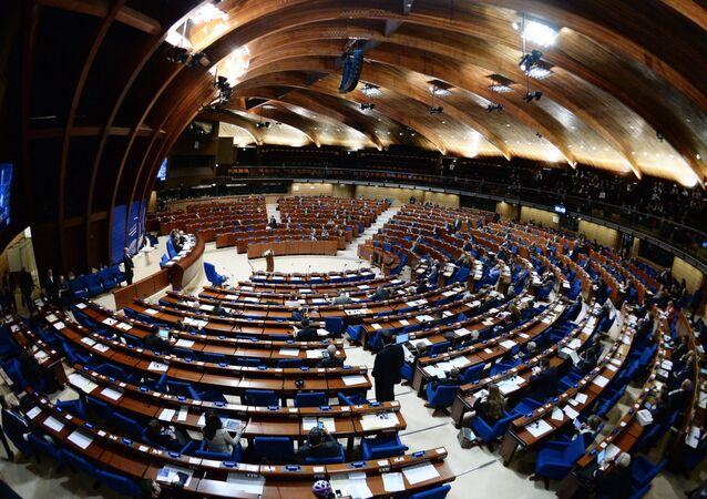 Session de l'Assemblée parlementaire du Conseil de l'Europe (APCE). Archive photo