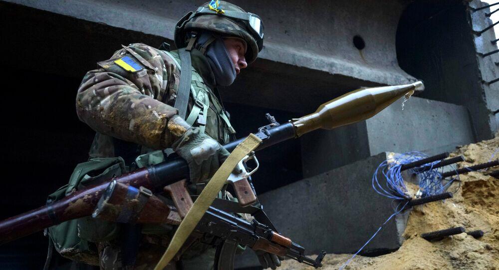 Militaire ukrainien  dans région de Donetsk