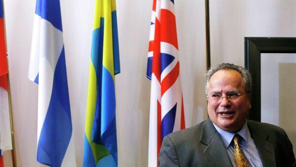 Ministre grec des Affaires étrangères Nikos Kotzias - Sputnik France