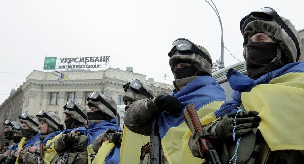 Membres d'une unité spéciale de l'armée ukrainienne