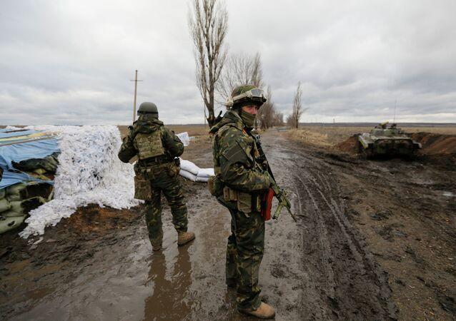 Soldats ukrainiens dans la région de Donetsk