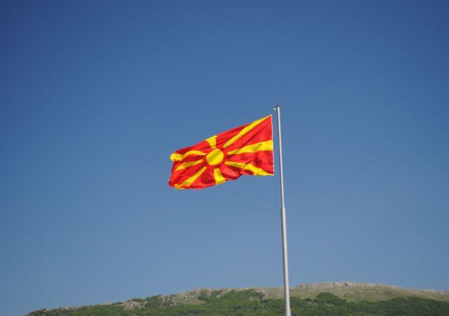 Le drapeau de la Macédoine