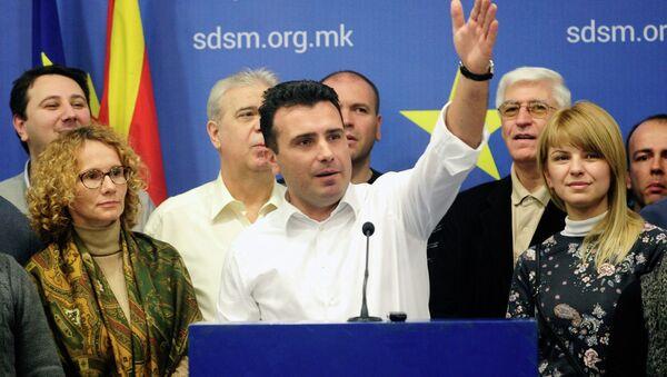 Macedonia's chief opposition leader Zoran Zaev speaks to the media during a press conference in Skopje January 31, 2015. - Sputnik France