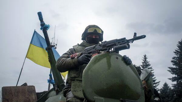 Украинский солдат в Дебальцево - Sputnik France