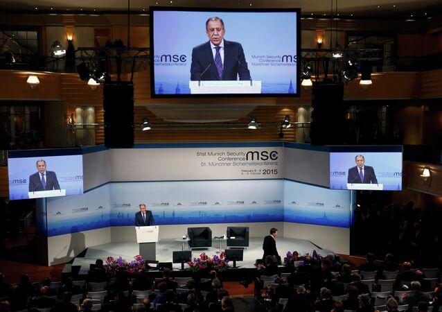 Le ministre russe des Affaires étrangères Sergueï Lavrov à la Conférence de Munich sur la sécurité