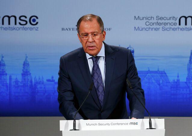 Ministre russe des Affaires étrangères Sergueï Lavrov à la Conférence de Munich sur la sécurité