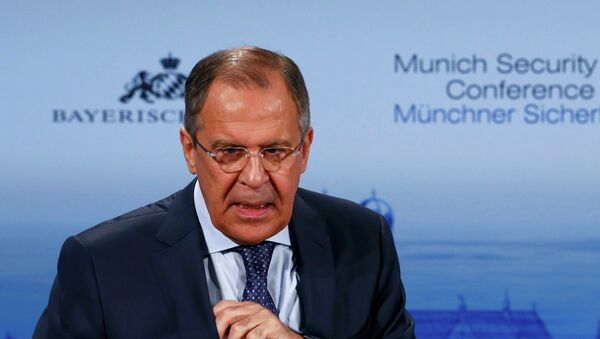Russian Foreign Minister Sergei Lavrov addresses during the 51st Munich Security Conference at the 'Bayerischer Hof' hotel in Munich February 7, 2015 - Sputnik France