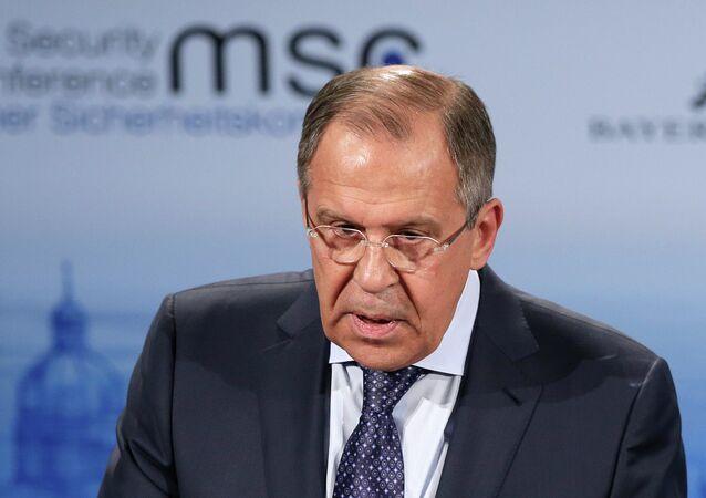 Le ministre russe des Affaires étrangères Sergueï Lavrov lors de la 51e conférence de Munich
