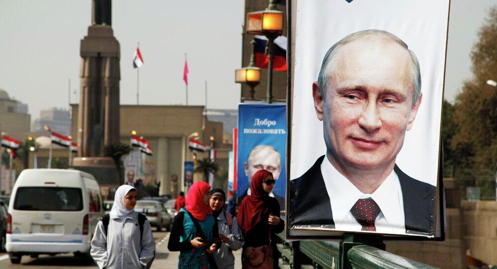 Portraits de Vladimir Poutine au Caire