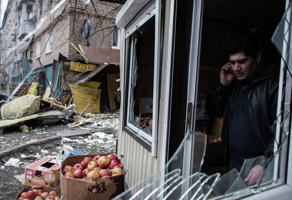 La ville de Donetsk, le 7 février 2015