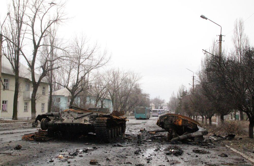 Un blindé carbonisé à Ouglegorsk
