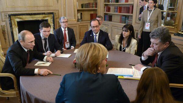 Встреча в нормандском формате на саммите форума Азия- Европа - Sputnik France