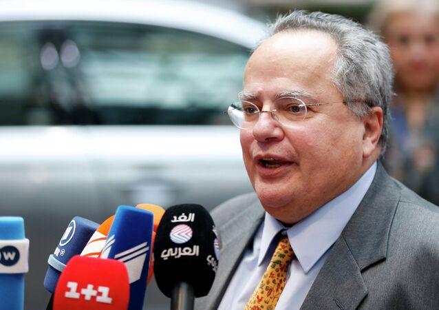 Le chef de la diplomatie grecque Nikos Kotzias