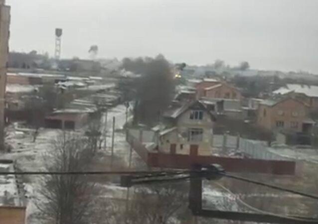 Tirs d'artillerie sur Kramatorsk filmés par des témoins