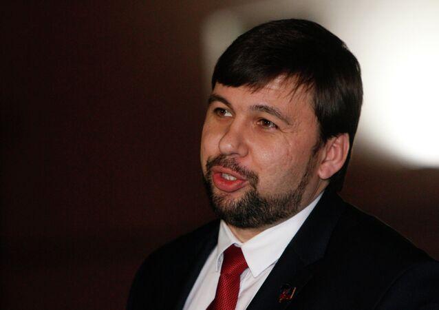 Denis Pouchiline, représentant de la république autoproclamée populaire de Donetsk