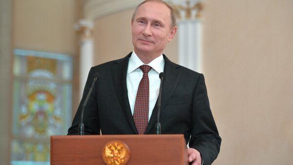 Пресс-конференция президента РФ В. Путина по итогам переговоров в Минске - Sputnik France