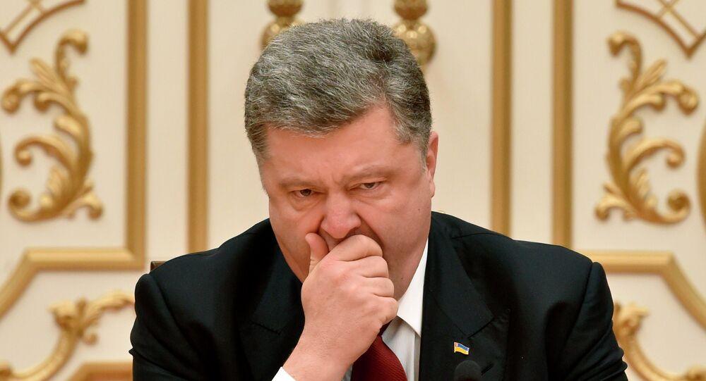 Le président ukrainien Piotr Porochenko lors du sommet au format Normandie à Minsk, le 11 février 2015