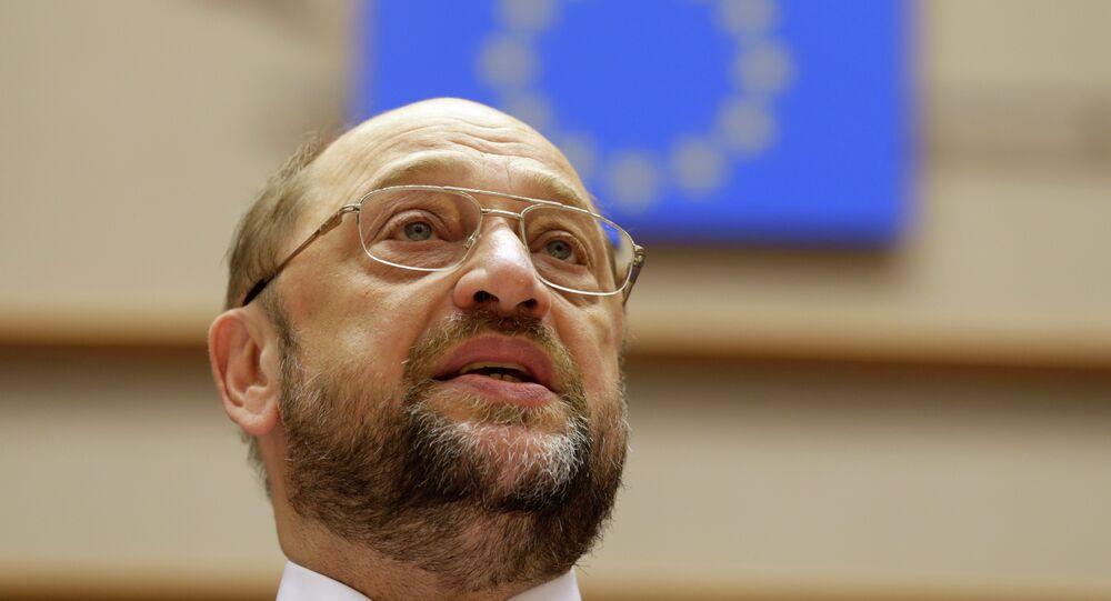 Le président du Parlement européen Martin Schulz