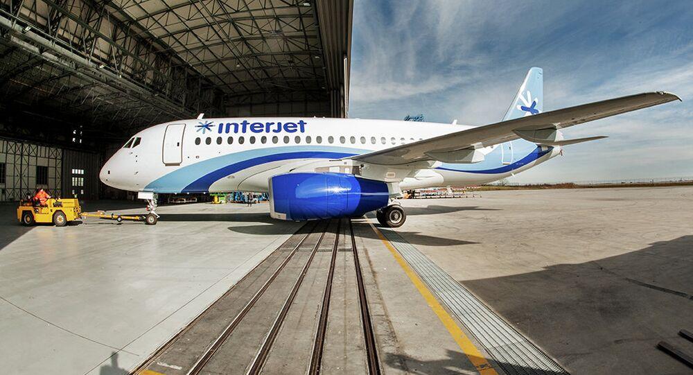 SSJ-100 de la compagnie aérienne mexicaine Interjet