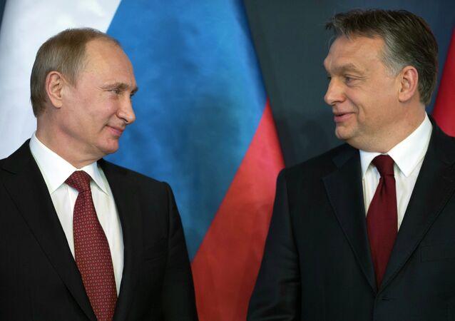 Vladimir Poutine et Victor Orban
