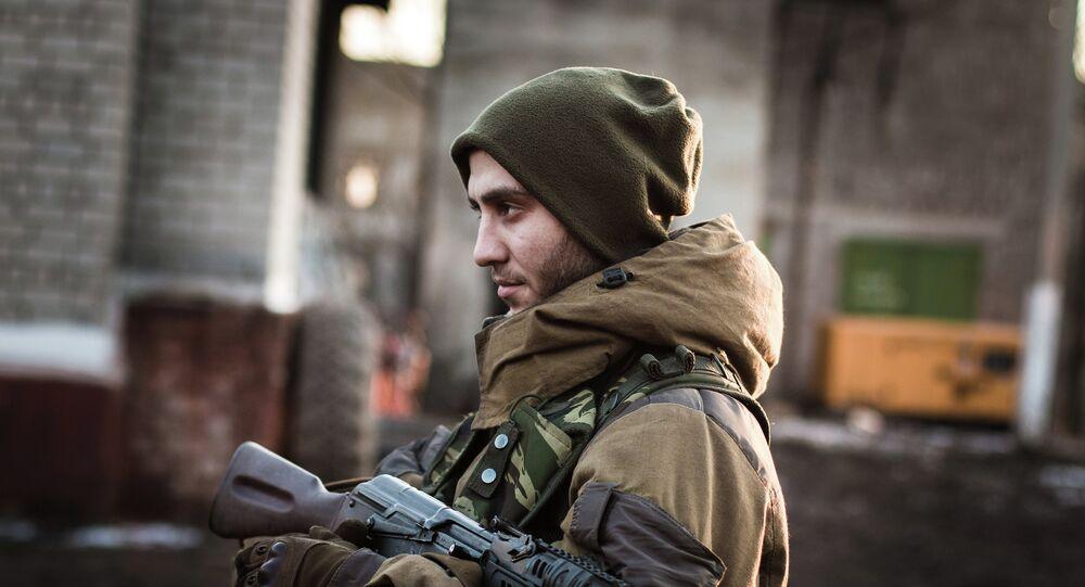 Un milicien de la République autoproclamée de Donetsk