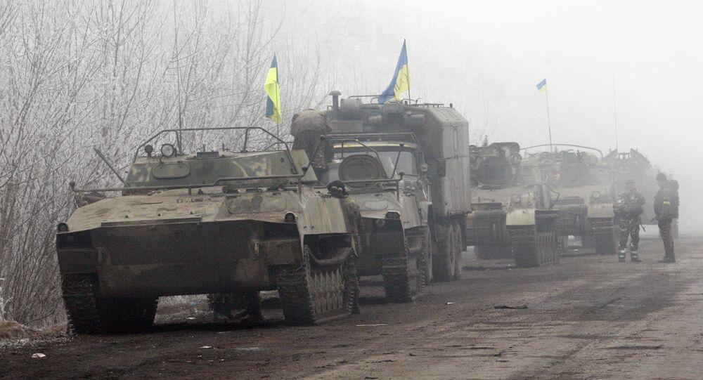 Des militaires ukrainiens entre les villes de Artemovsk et Debaltsevo (Archives)