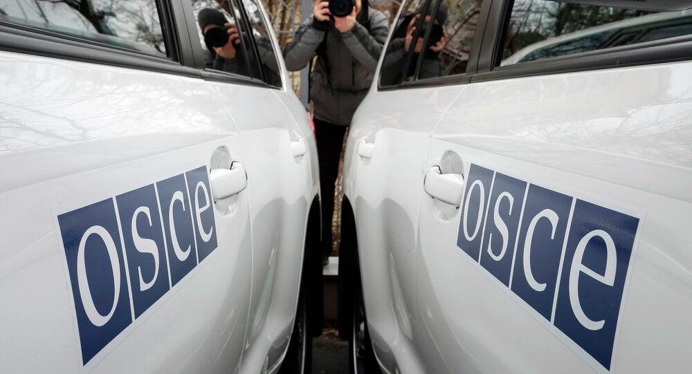 Véhicules de l'OSCE.