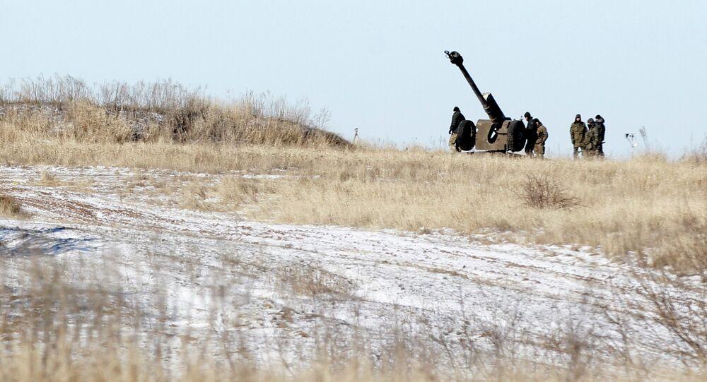 Artillerie ukrainienne près du village de Luhanske (Archives)