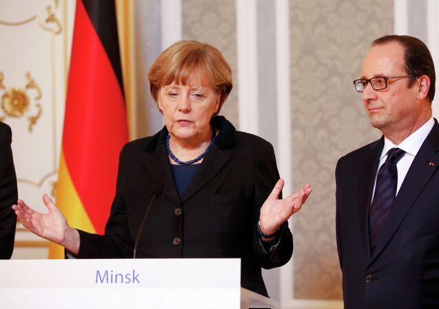 Angela Merkel et Francois Hollande