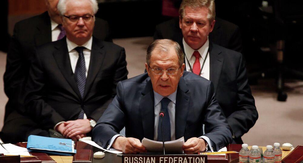 Sergueï Lavrov  au Conseil de sécurité de l'Onu (23 février 2015)