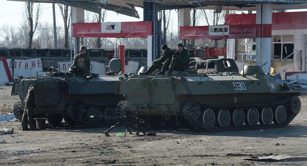 Des indépendantistes à Debaltsevo