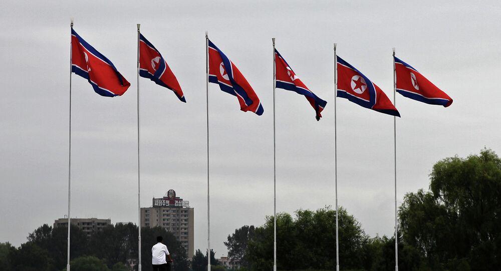 Drapeaux de la Corée du Nord