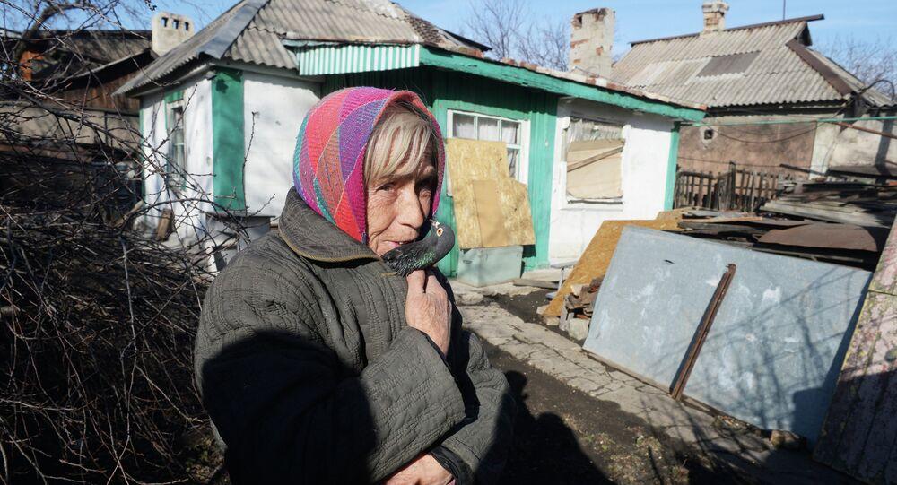 Une habitante de Donetsk