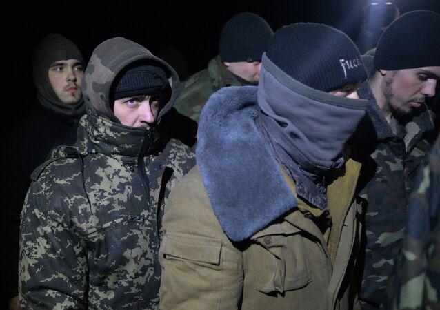 Militaires ukrainiens capturés par les indépendantistes