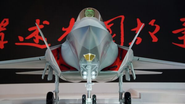 Chinese J-31 stealth fighter of AVIC is pictured at the Airshow China 2014 in Zhuhai - Sputnik France