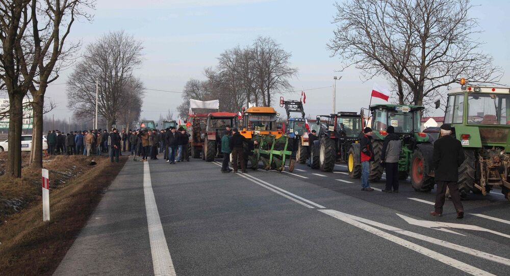 Protestation de fermiers polonais (archives)