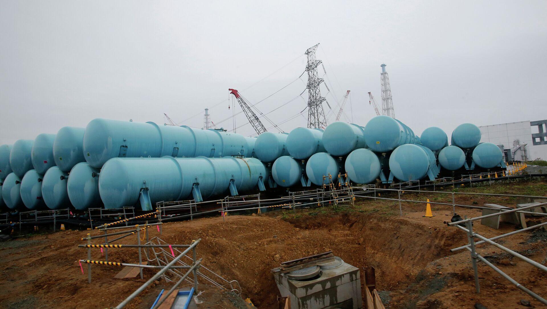 Conteneurs d'eau contaminée à la centrale nucléaire de Fukushima - Sputnik France, 1920, 25.08.2021