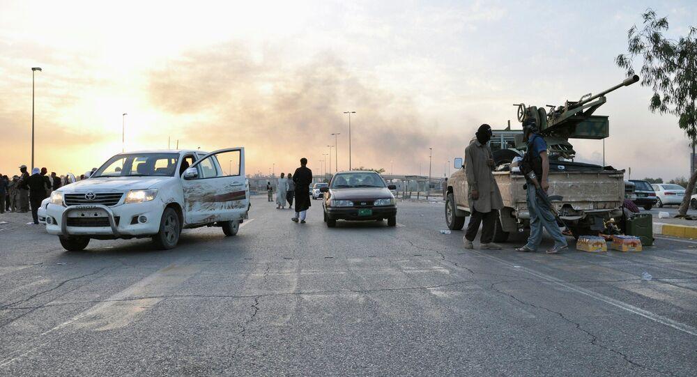Combattants de l'État islamique de l'Irak et de Levant. Archive photo