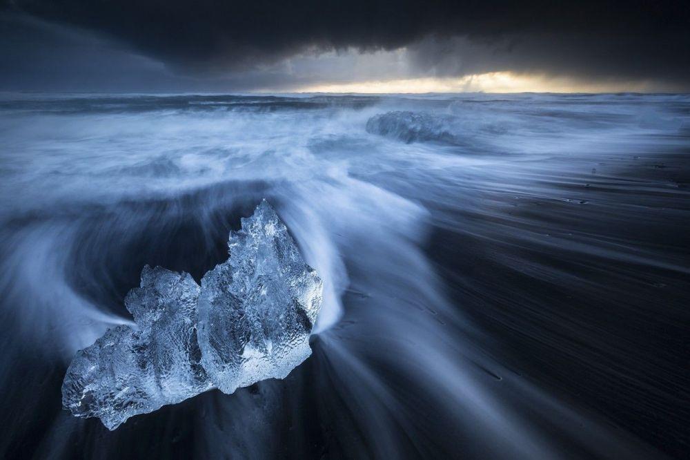 Un glacier près du volcan islandais Holuhraun