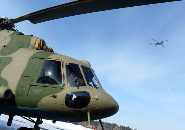 Un Mi-8 MTV-5-1 doté d'un brouilleur actif