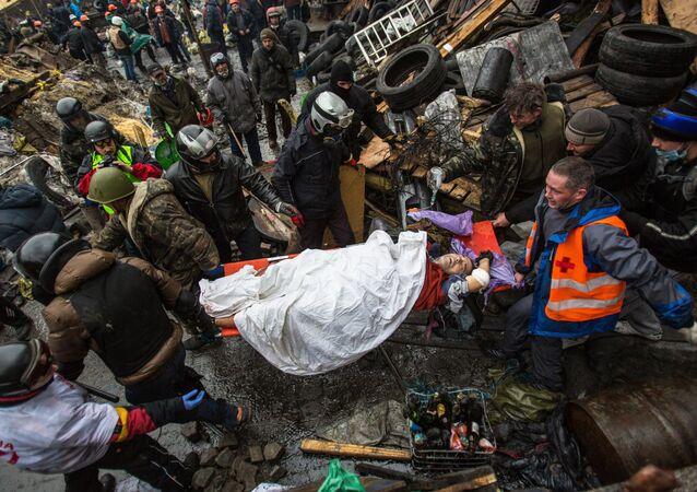 Manifestation sur le Maïdan à Kiev