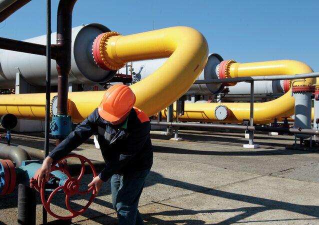 Des réservoirs de gaz à Lvov en Ukraine