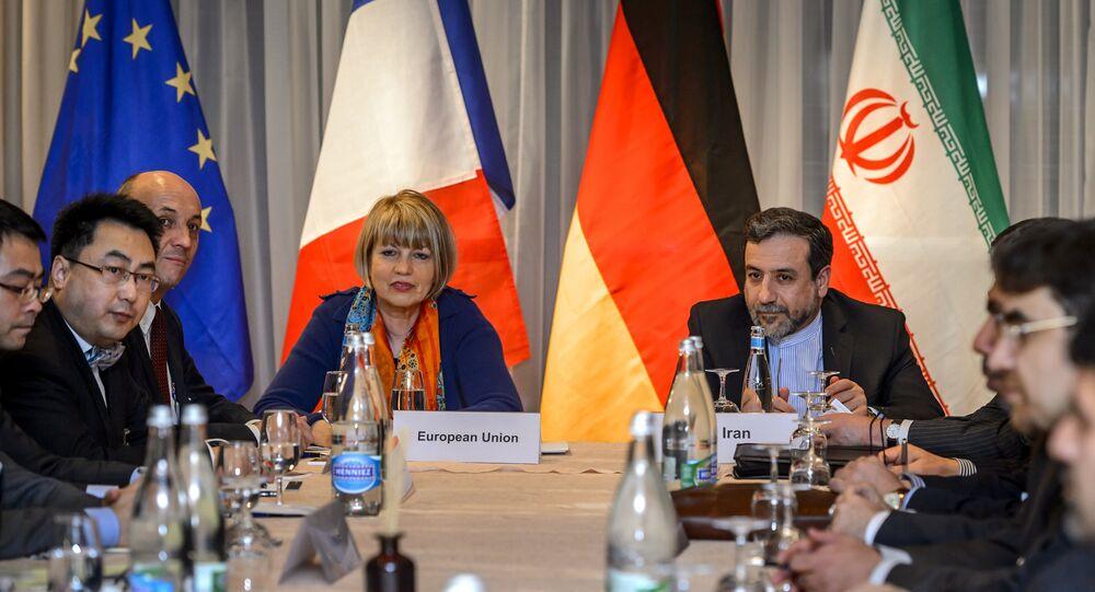 Discussions entre l'Iran et les Six médiateurs internationaux (Allemagne, Chine, USA, France, Grande-Bretagne, Russie) à Montreux (Suisse)