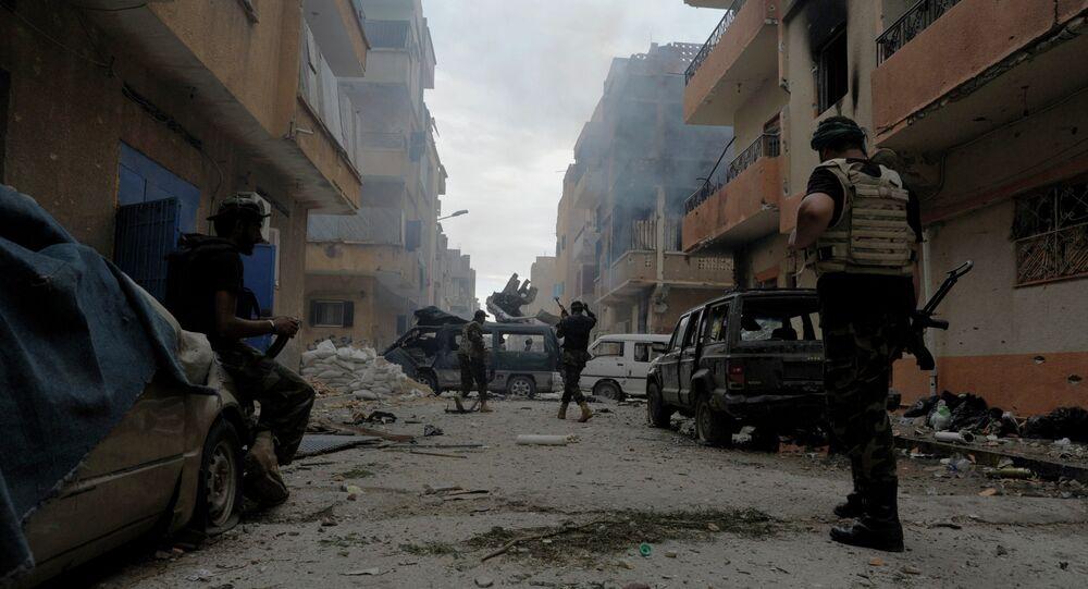 Soldats libyens combattant les islamistes