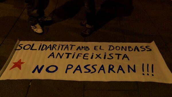 Barcelone: meeting de soutien au Donbass ukrainien - Sputnik France