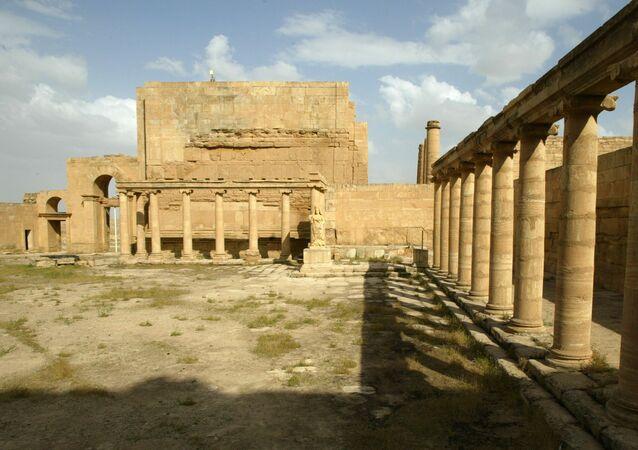 Le palais royal d'Hatra, site archéologique irakien inscrit au patrimoine mondial de l'UNESCO