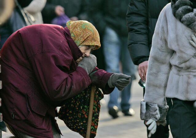 Une retraitée, Kiev, Ukraine